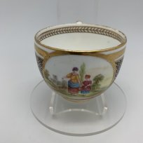 Чашка Две девушки, кобальт, позолота, Royal Worcester